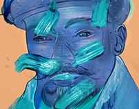 Scarf man - Illustration