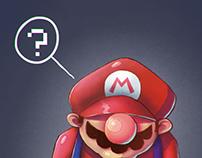 thinking Mario