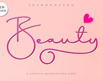 Free Download. Beauty Script Font