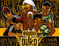 "capa mixtape ""Bigodin de ouro"""