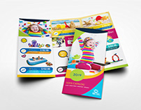 Toys Products Catalog Tri-Fold Brochure Template