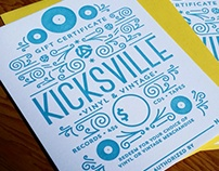 Kicksville Vinyl & Vintage Gift Certificate