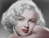 "Marilyn Monroe colorized. ""1953"""