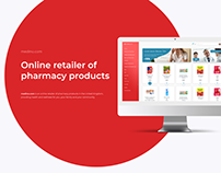 Ecommerce website design project for pharmacy