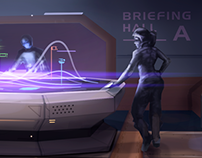 Briefing hall Concept-art