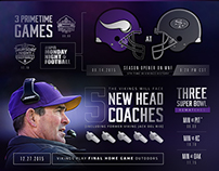 2015 Vikings Schedule 'At a Glance' Infographic