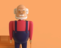 Character design(old man)