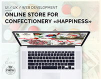 Online store for confectionery «HAPPINESS»