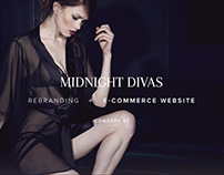 MIDNIGHT DIVAS eCommerce website - Concept 1
