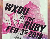 WXDU Ruby Poster 2018