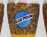 Blue Moon Brewing Company illustrated Pint Glass