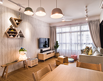 Interior shoot of residential space at Hougang