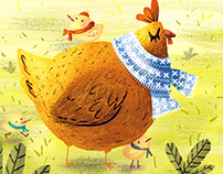 Autumn and chickens