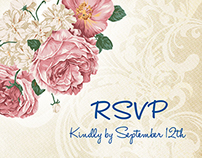 Weger-Katowitz Wedding RSVP Postcards