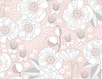Surface Design: Poppies + Rosehips Collection