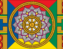 World of Mandalas - Giant coloring poster