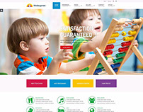 School WordPress theme Example for kindergarten