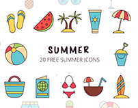 Summer Vector Free Icon Set