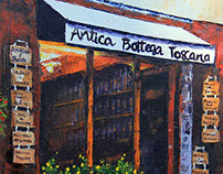 Antica Bottega Toscana Palette Knife Painting in Oil