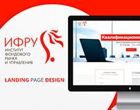 IFRU Landing Page Design