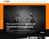 Maquette Trust Media UX/UI