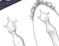 'Anna' - Wedding Dress Illustration