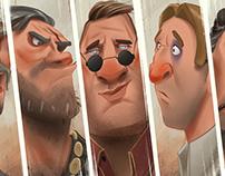 Seven 2 Smoke - Characters