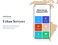 Urban Servyces, home services on demand UIUX Design.