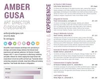 Resume: Amber Gusa
