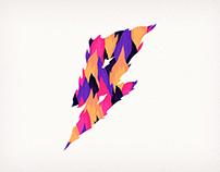 """""""Diamante Eléctrico – B"""" Album Artwork & Logo"""