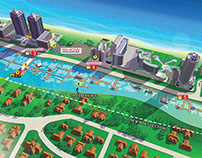 Illustrated Maps for a Miami Beach Boat Show