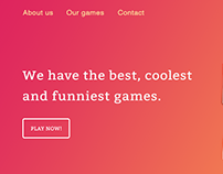 Best, Cool & Fun Games Website - Interface Design