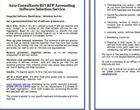 Axia Consultants RFI RFP Accounting