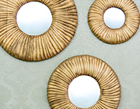 Round Abstract mirror frames