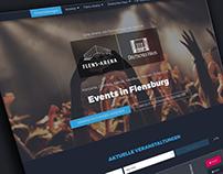 Responsive webdesign for event location