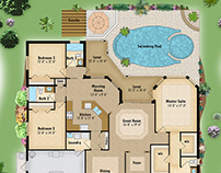 3d home renderings on behance for Softplan architectural design software free download