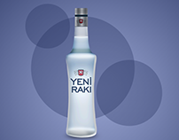 Yeni Rakı Bottle Vector Icon