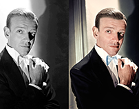 Photo Colorization of Fred Astaire, 1940.