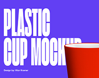 Plastic Long Cup // .PSD MOCKUP