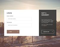 Login / Register Page