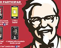 KFC & SNAPCHAT trayliner promo