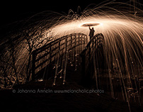 Steel wool fire photography
