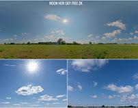 NOON HDR PANORAMIC SKY MAP Free 2k