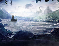 The wanderer - photo manipulation - matte painting