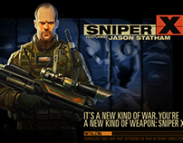 Sniper X with Jason Statham. Mobile iOS/Android.