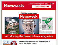 Email design - Newsweek newsletter