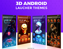 3D Android Launcher Themes