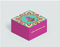 Logo and packaging design for Bollywood Mahal