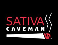 Sativa Caveman logo design