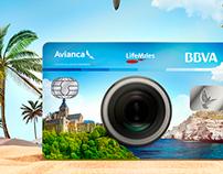 Visual Key to campaign Avianca Life Miles with BBVA